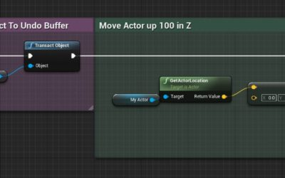Implementing Undo in UE4 Editor Utility Widgets and Blueprints